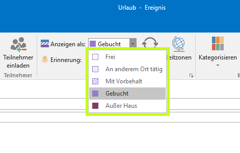erneut einladen outlook